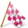 Map-Marker-Chequered-Flag-Right-Pink icon