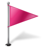 Map-Marker-Flag-1-Right-Pink icon