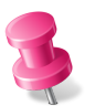 Map-Marker-Push-Pin-2-Left-Pink icon