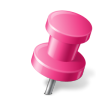 Map-Marker-Push-Pin-2-Right-Pink icon