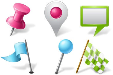 Vista Map Markers Icons
