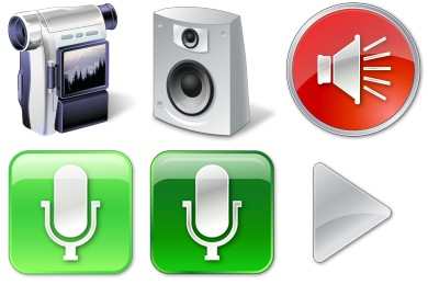 Vista Multimedia Icons