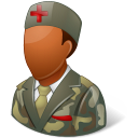 Medical Army Nurse Male Dark icon