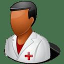 Medical-Nurse-Male-Dark icon