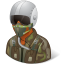 Occupations Pilot Military Male Dark icon