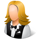 Occupations Waitress Female Light icon