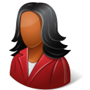 Office Customer Female Dark icon