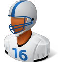 Sport Football Player Male Dark icon