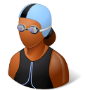 Sport-Swimmer-Female-Dark icon
