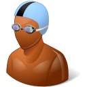 Sport Swimmer Male Dark icon