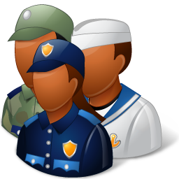 Groups Military Personnel Dark icon