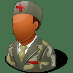 Medical Army Nurse Male Dark icon