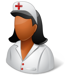 Medical Nurse Female Dark icon