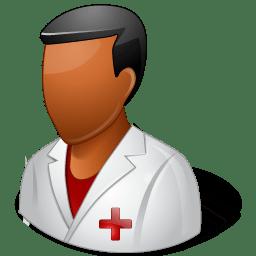 Medical Nurse Male Dark icon