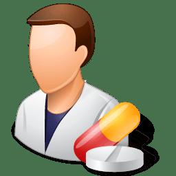 Medical Pharmacist Male Light icon