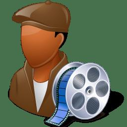 Occupations Film Maker Male Dark icon