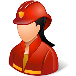 Occupations Firefighter Female Light icon