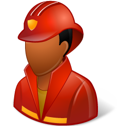 Occupations Firefighter Male Dark icon