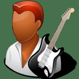 Occupations Guitarist Male Dark icon