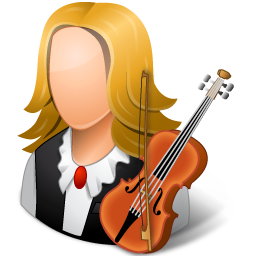 Occupations Musician Female Light icon