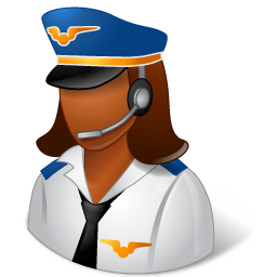 Occupations Pilot Female Dark icon