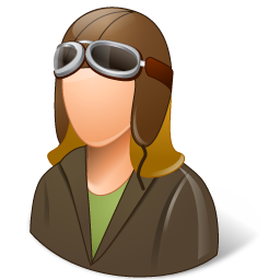 Occupations Pilot OldFashioned Female Light icon