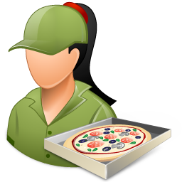 Occupations Pizza Deliveryman Female Light Icon Vista People Iconset Icons Land