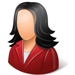 Office Customer Female Light icon