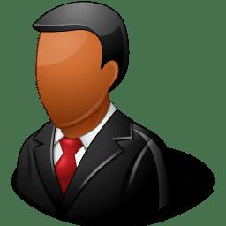 Office Customer Male Dark icon