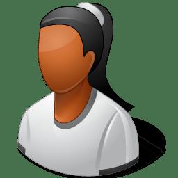Person Female Dark icon