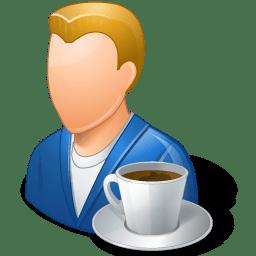 Rest Person Coffee Break Male Light icon