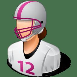 Sport Football Player Female Light icon