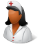 Medical-Nurse-Female-Dark icon