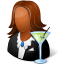 Occupations Bartender Female Dark icon