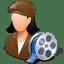 Occupations-Film-Maker-Female-Light icon