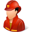 Occupations-Firefighter-Male-Light icon