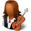 Occupations-Musician-Female-Dark icon