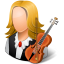 Occupations-Musician-Female-Light icon