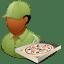 Occupations-Pizza-Deliveryman-Male-Dark icon