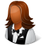 Occupations-Waitress-Female-Dark icon