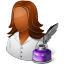 Occupations-Writer-Female-Dark icon
