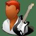 Occupations-Guitarist-Male-Dark icon