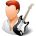 Occupations-Guitarist-Male-Light icon