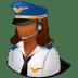 Occupations-Pilot-Female-Dark icon