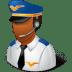 Occupations-Pilot-Male-Dark icon