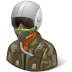 Occupations-Pilot-Military-Male-Dark icon
