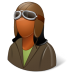 Occupations-Pilot-OldFashioned-Female-Dark icon