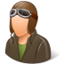 Occupations-Pilot-OldFashioned-Male-Light icon