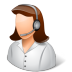 Occupations-Technical-Support-Representative-Female-Light icon
