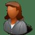 Office-Client-Female-Dark icon